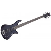 SCHECTER STILETTO STUDIO-8 SEE THRU BLACK SATIN